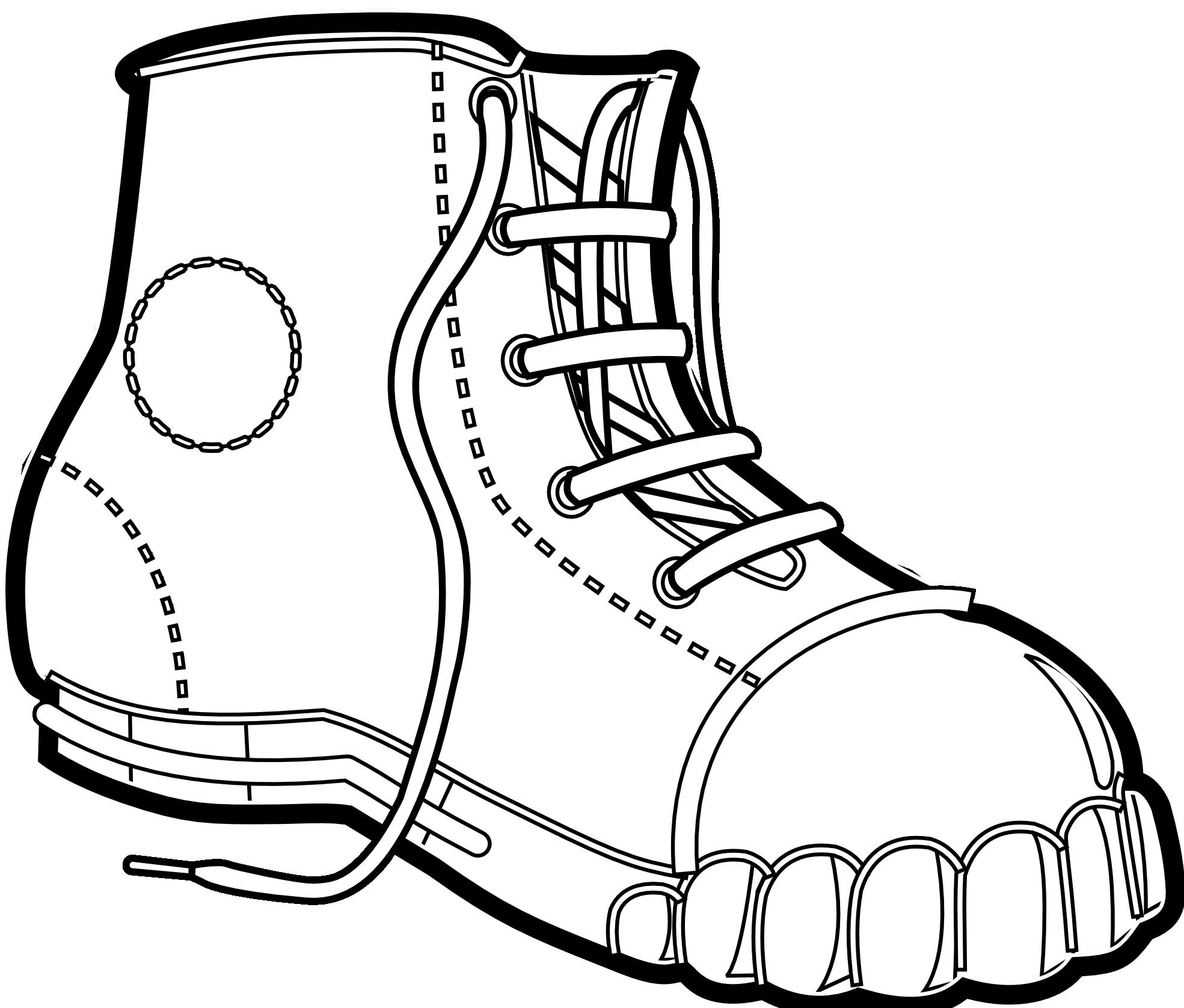 Combat boot clipart.