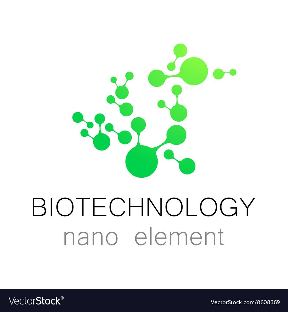Biotechnology nano logo.