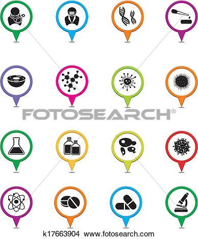 Clipart of biotechnology pointer sets k17663904.