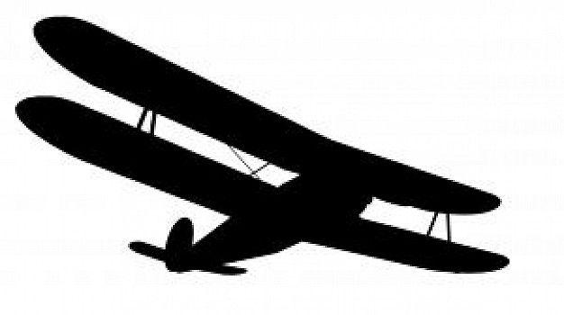 Biplane silhouette clipart free.