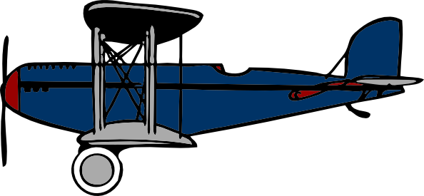Red Blue Biplane clip art Free Vector / 4Vector.