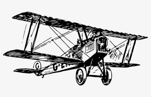 Free Plane Black And White Clip Art with No Background.
