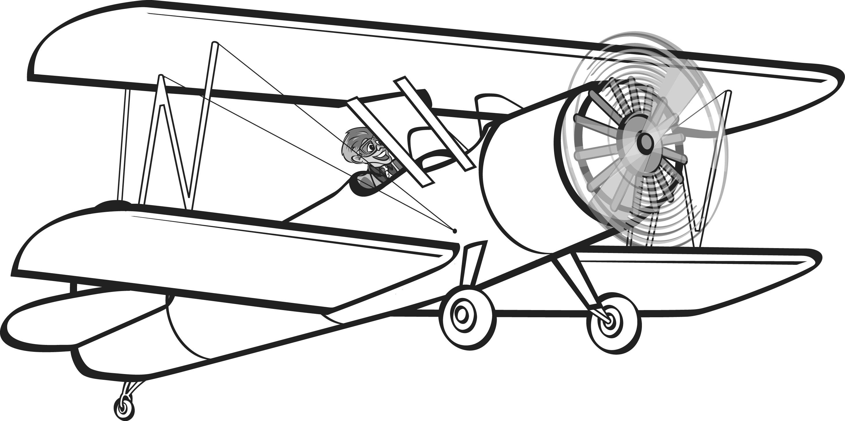 Image of Biplane Clipart #4592, Red Baron Aircraft Clipart.