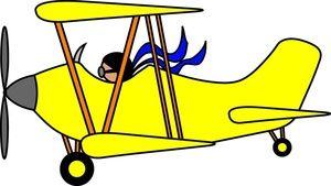 Airplane Cartoon Clip Art.