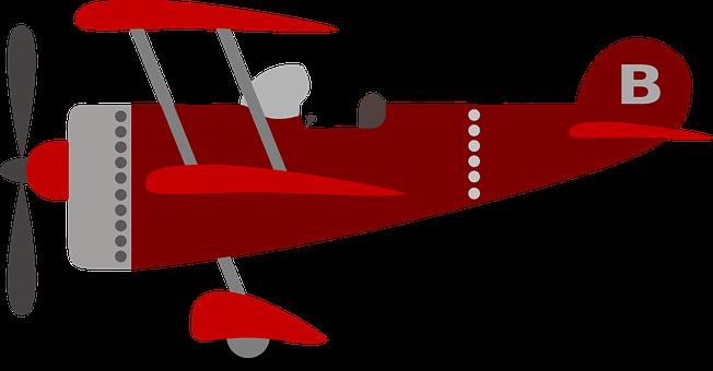 Download Children\'s Plane Red Kids Plane Child Airp.