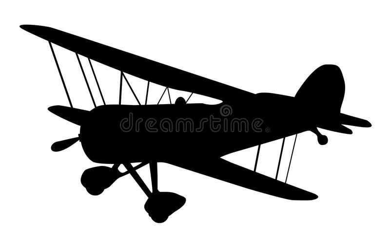Biplane Silhouette Stock Illustrations.