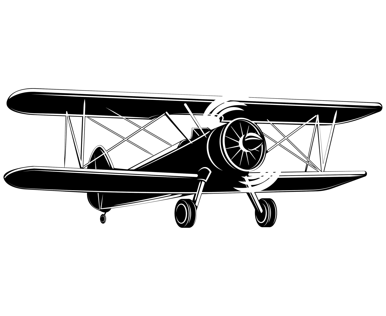 Biplane clipart silhouette 4 » Clipart Portal.