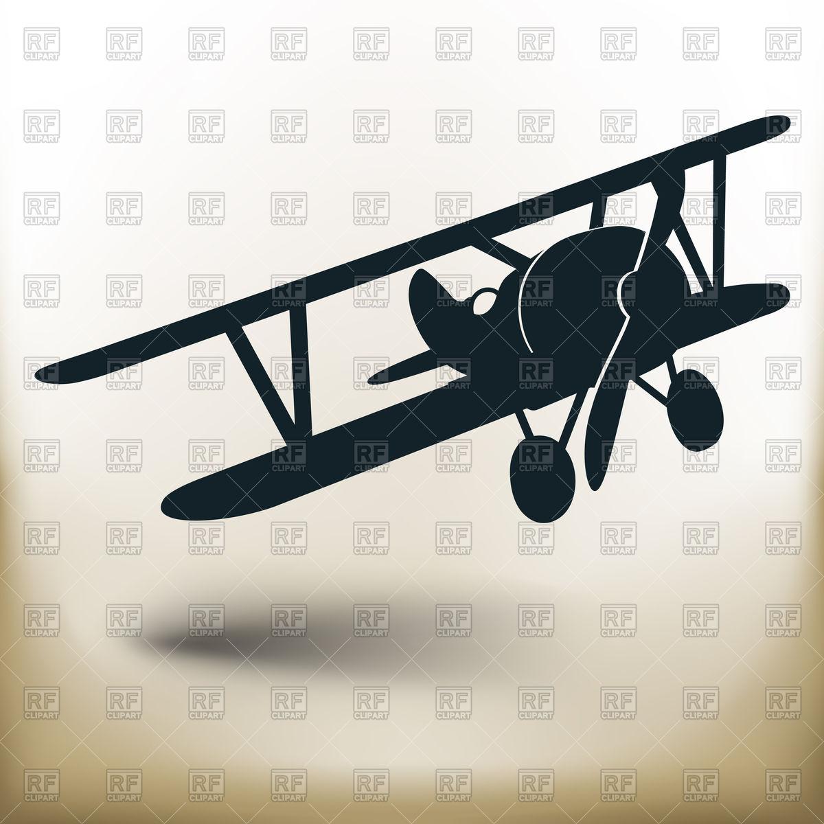 Biplane silhouette.