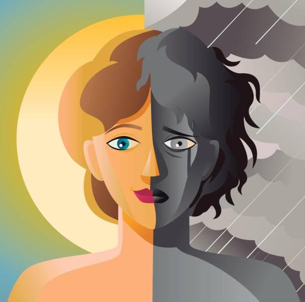 Best Bipolar Disorder Illustrations, Royalty.