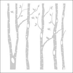 Birch Tree Silhouette Vector.