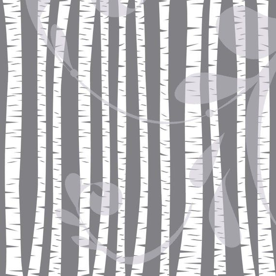 Birch and Aspen Trees Clipart.