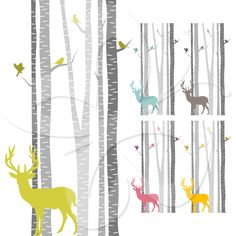 Deer Tree Clipart.