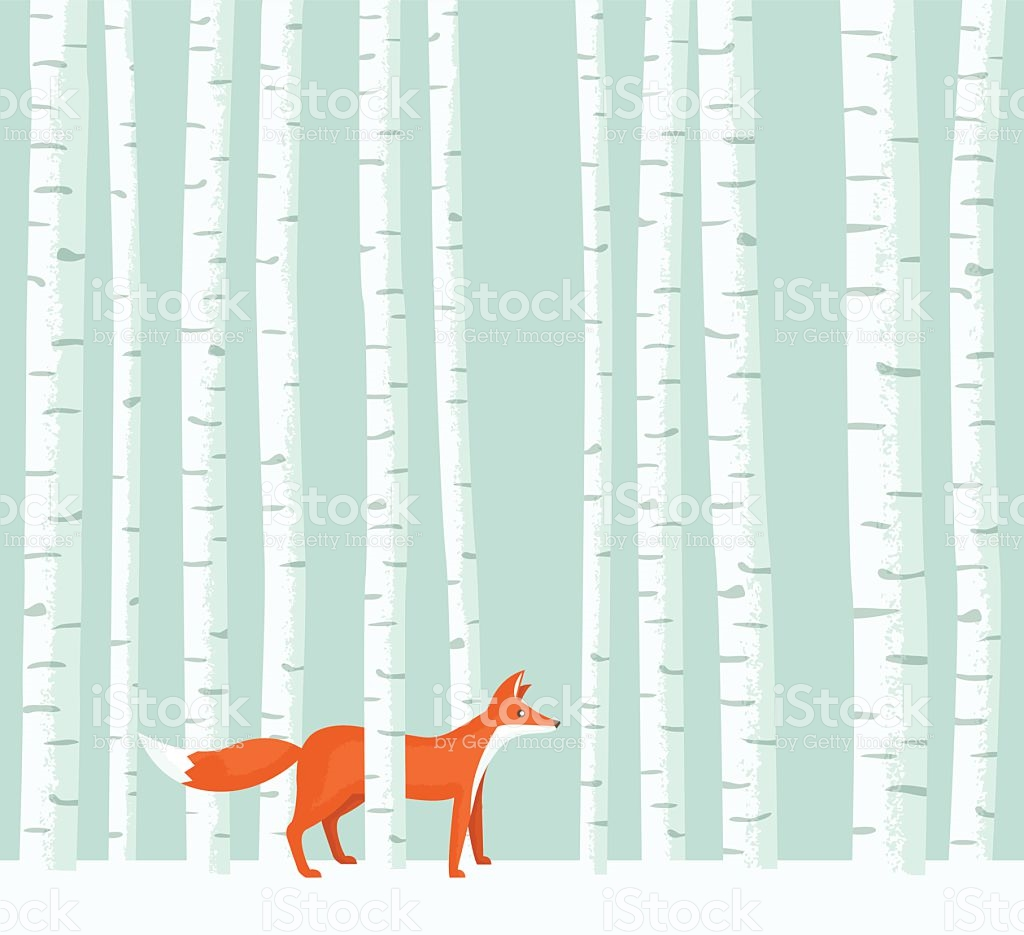 Birch tree clipart for sale.