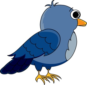 Cartoon Bird Clipart Image.