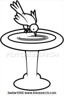 Bird Bath Fountain Clip Art.