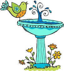 Free bird bath clipart.