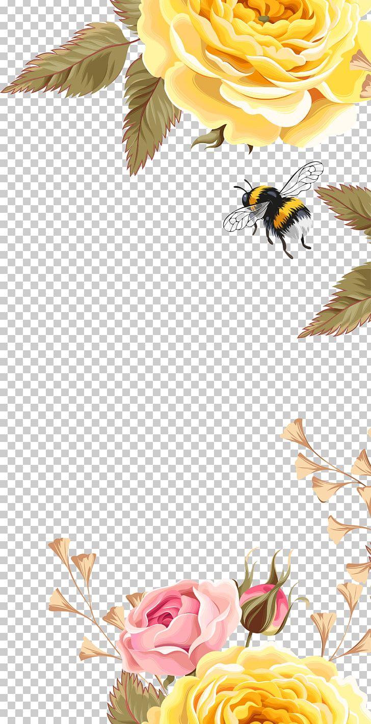 Bee Bird Flower Pattern PNG, Clipart, Clip Art, Computer.