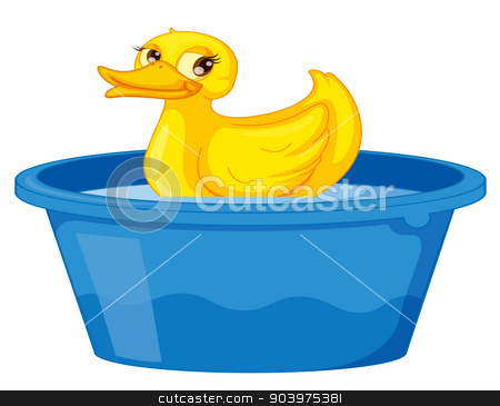 duck stock vector.
