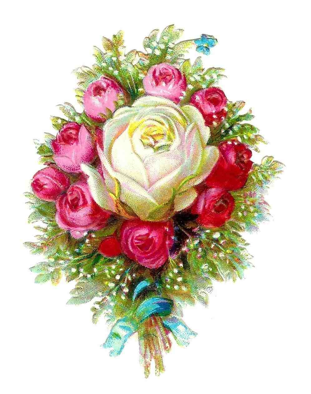 Bouquet of flowers clipart no background.