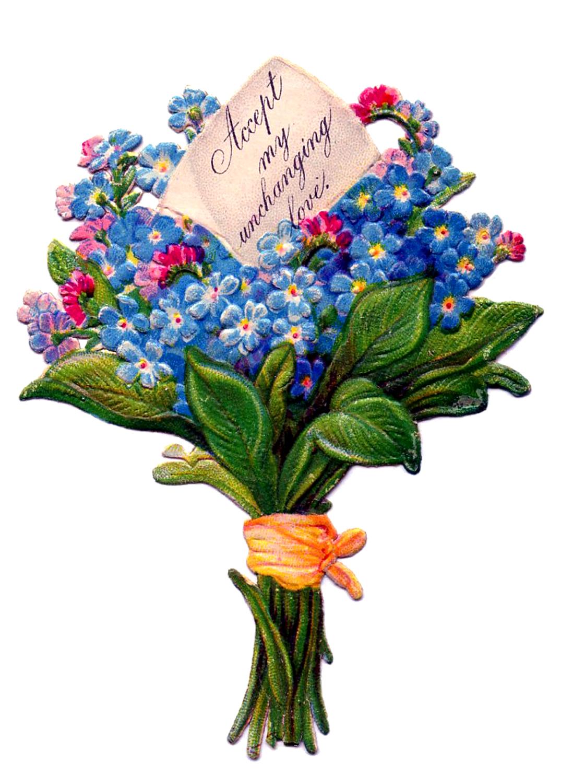 Cute flower bouquet clipart free.