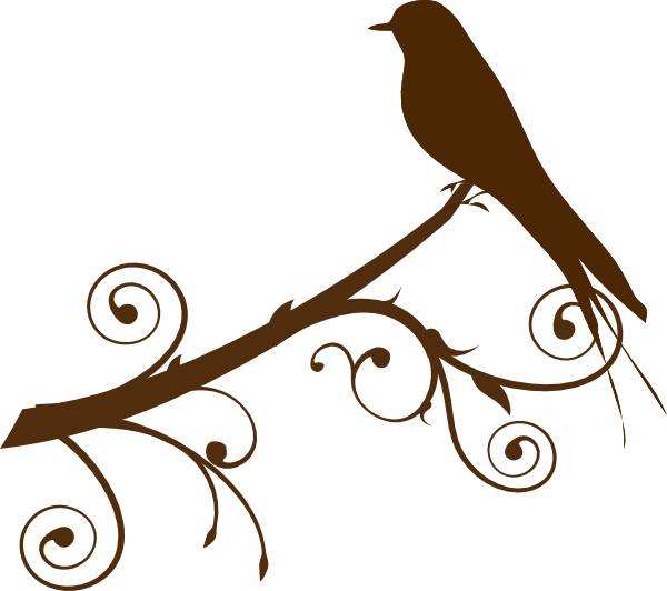 Bird On A Branch Silhouette Free Vector.
