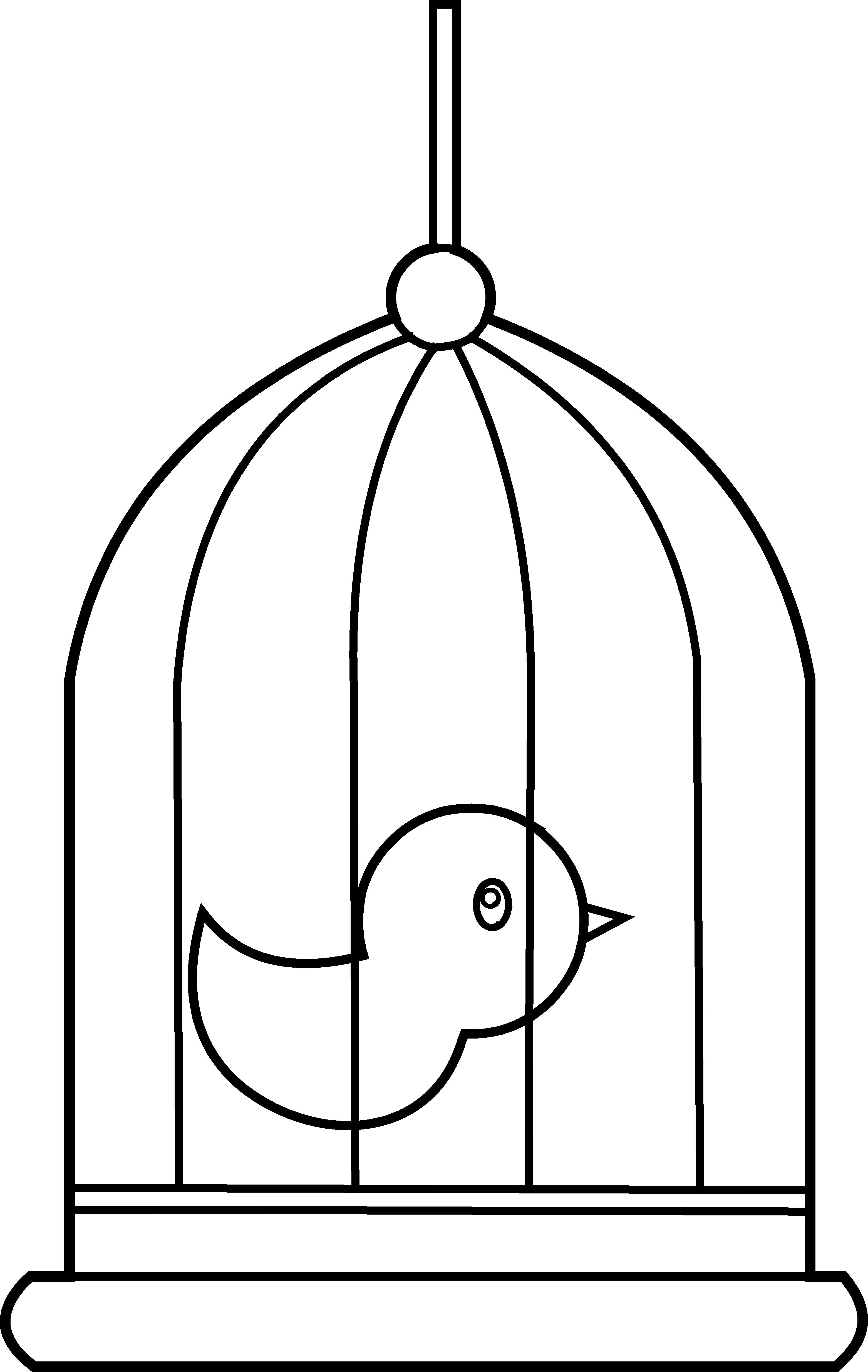 Free birdcage clip art.