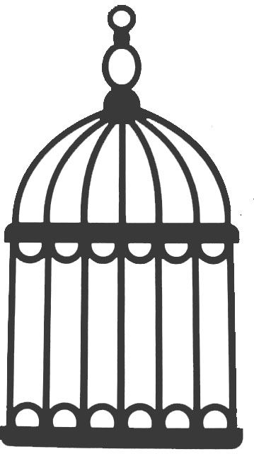 Open Birdcage Silhouette Bird cage clipart 20 f...