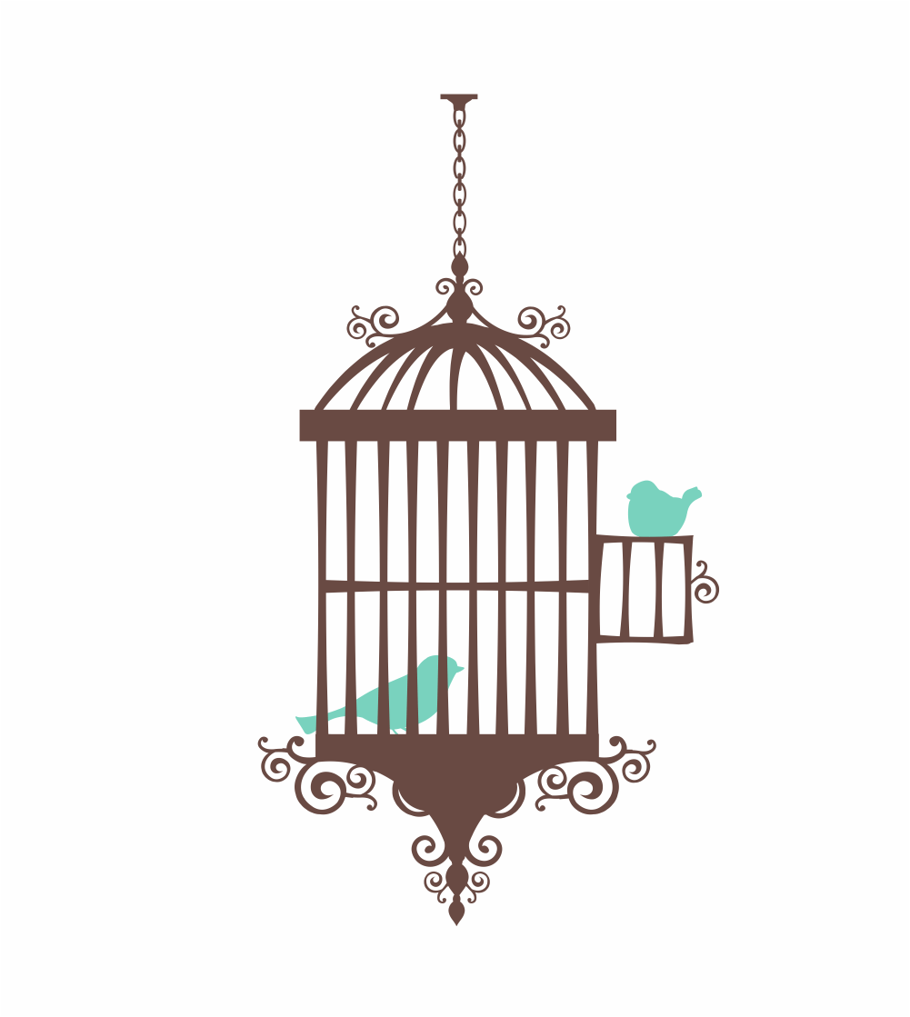 Whimsical Bird Cage Clipart.