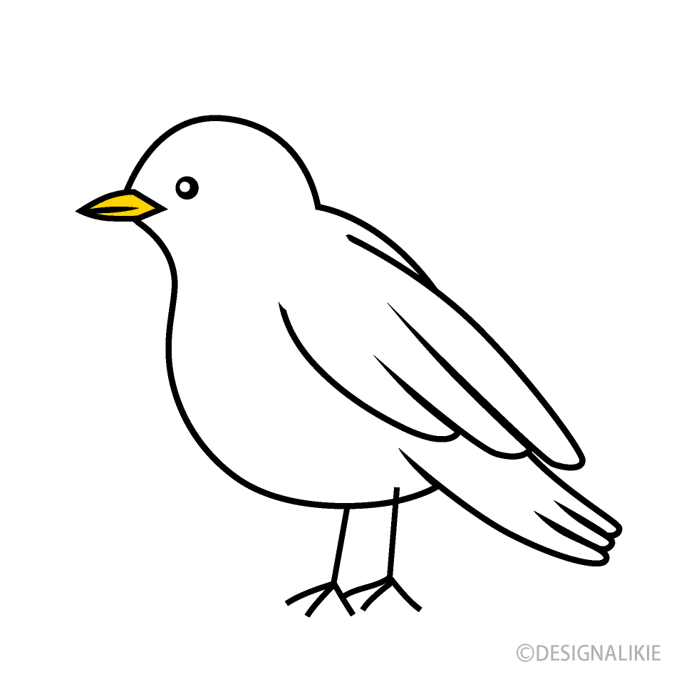 Free White Bird Clipart Image|Illustoon.