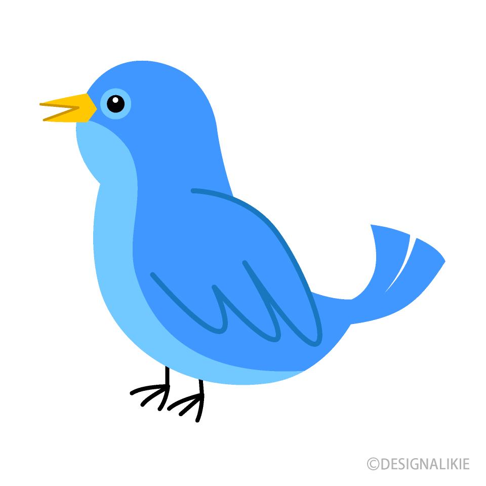 Free Cute Blue Bird Clipart Image|Illustoon.