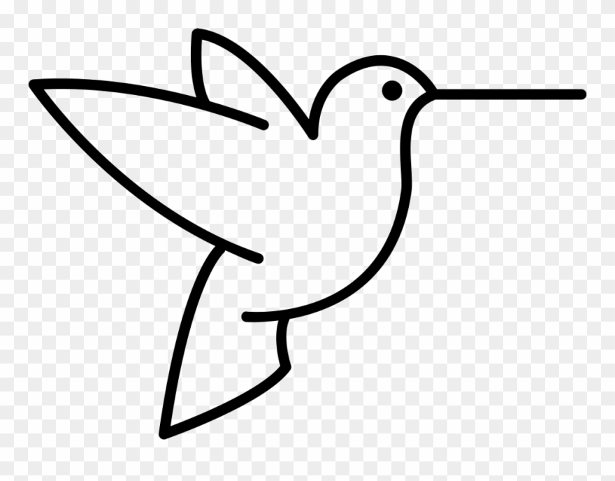 Humming Bird Outline From Side View Clipart (#2835093).