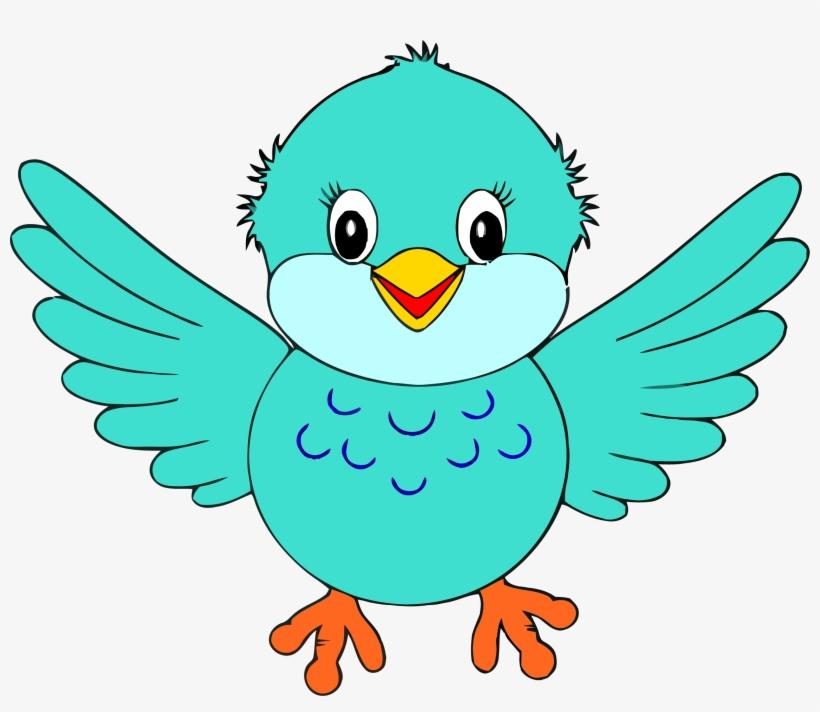 Bird Clipart Little Blue Bird Clip Art Png.