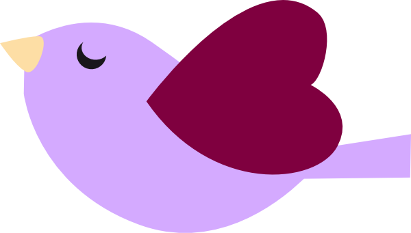 Purple Bird Clip Art at Clker.com.