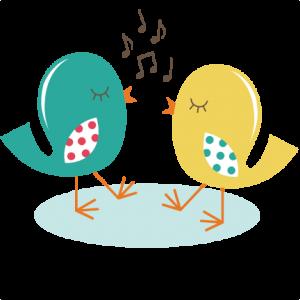 Singing Birds SVG cut file for scrapbooking birds svg files for.