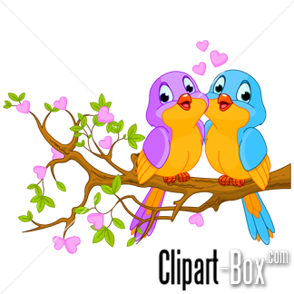 CLIPART BIRDS COUPLE.