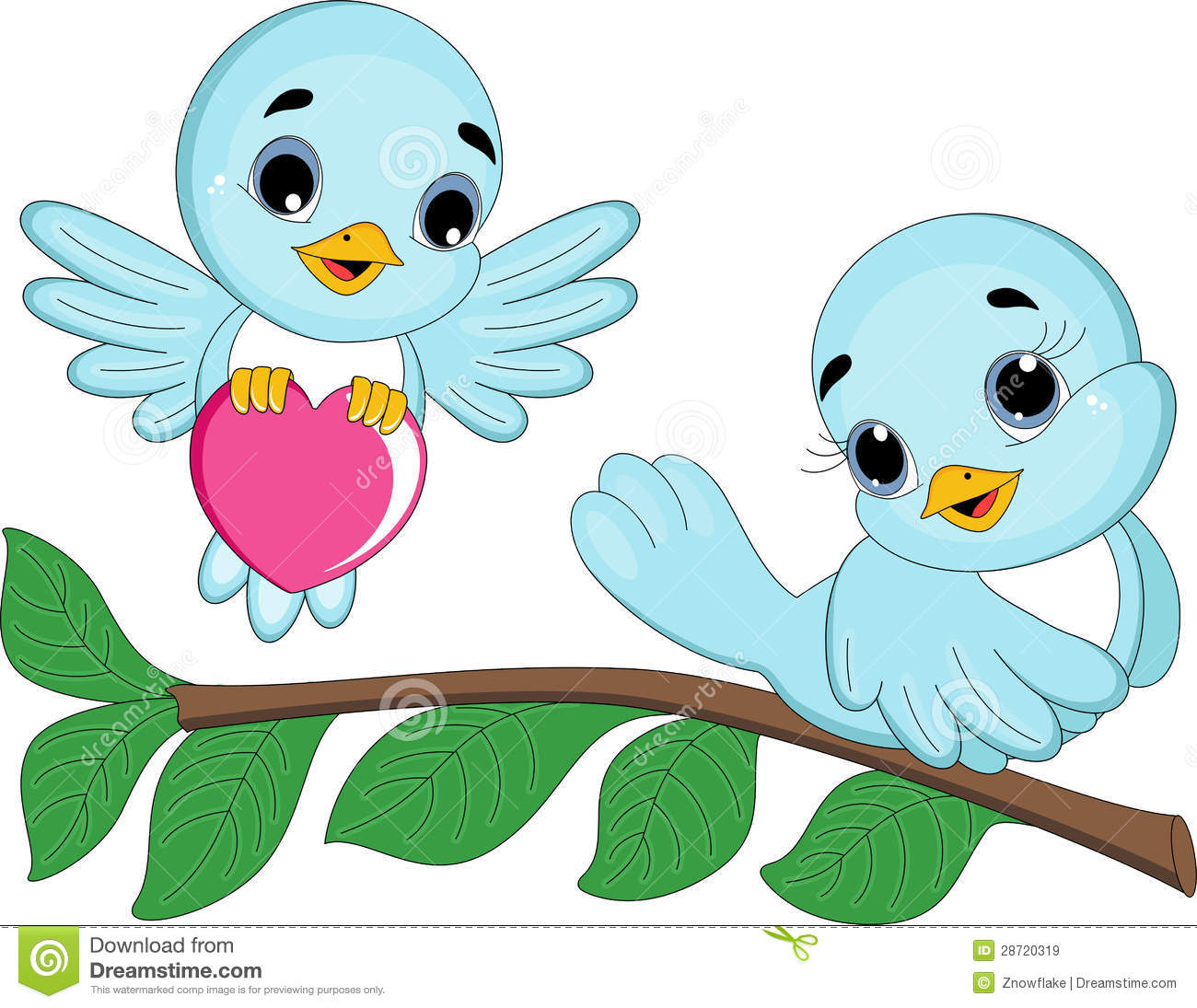 Love Bird Couple Royalty Free Stock Images.