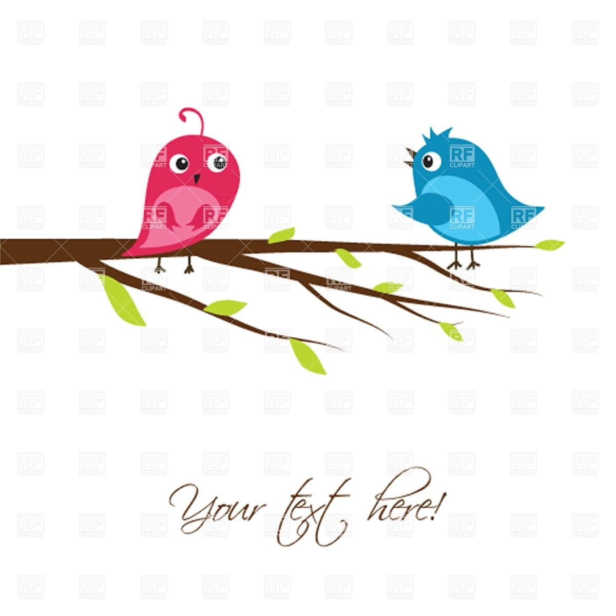 Two cute bird clipart.