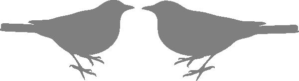 Grey Love Bird Couple Clip Art at Clker.com.