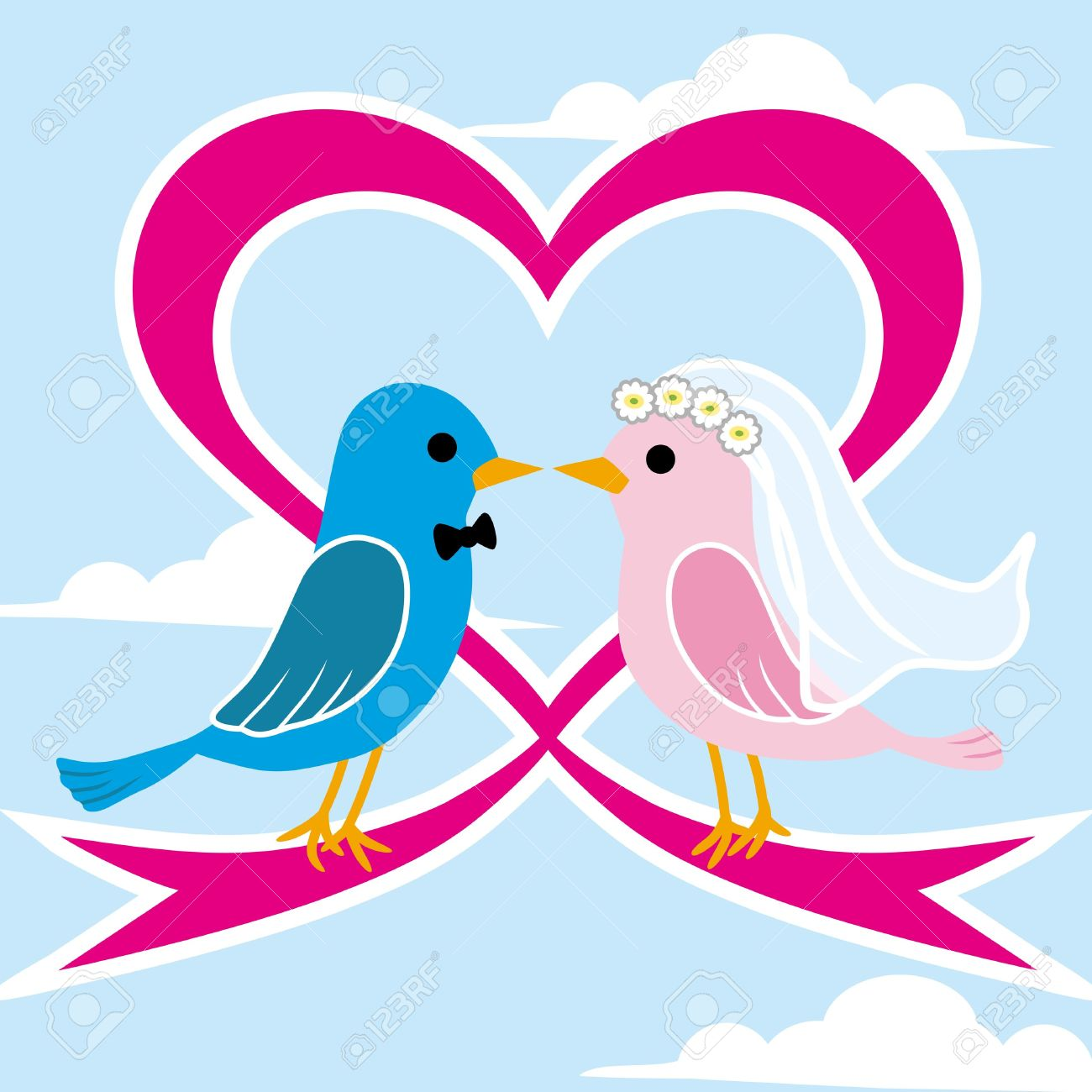 Love birds kissing clipart wedding.