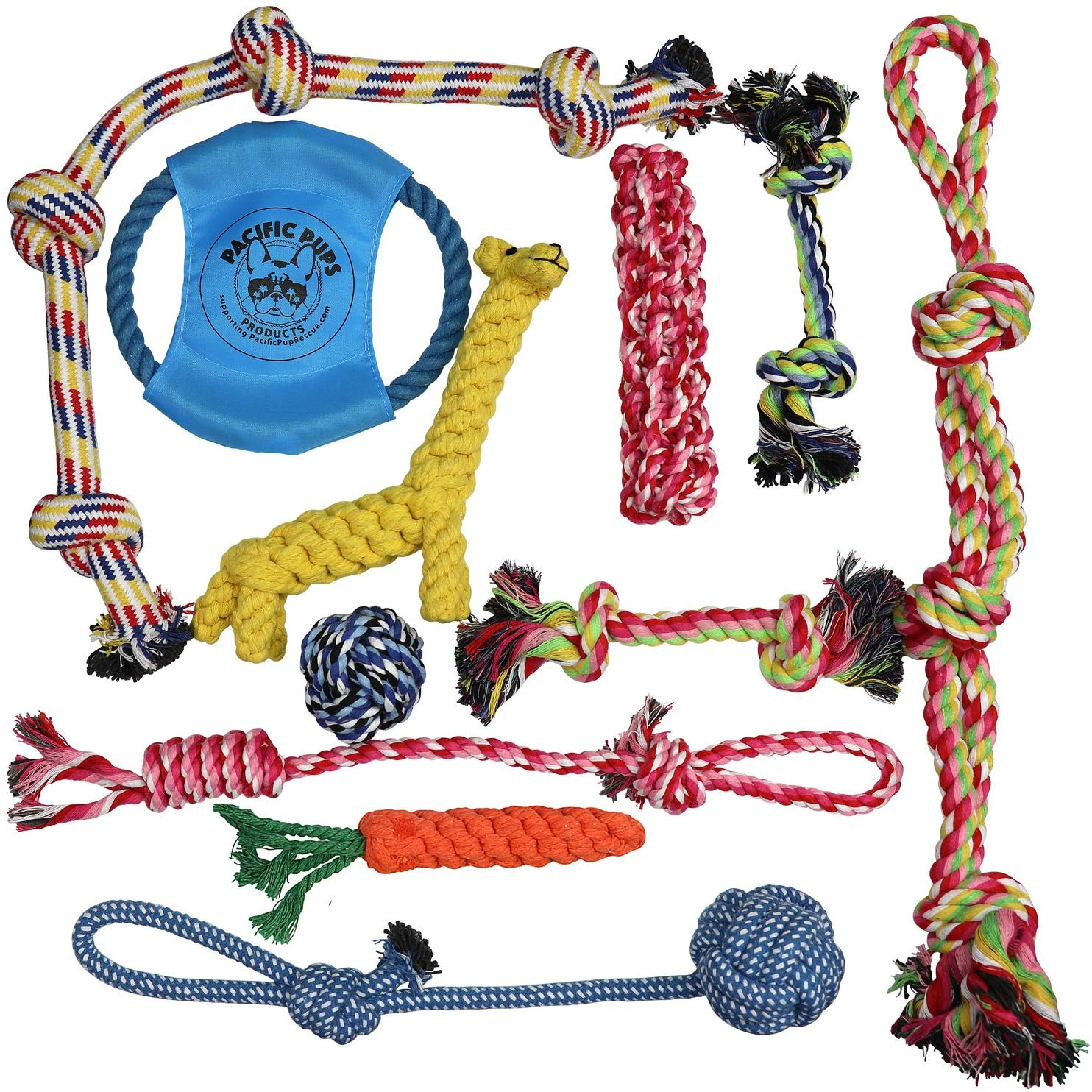 Pacific Pups Products supporting pacificpuprescue.com Dog Rope Toys for  Aggressive Chewers.