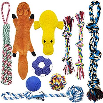 MLCINI Dog Toys Plush Dog Squeaky Toys Rope Dog Toy Dog Chew Toys Dog Toys  for Medium Large Small Dogs Puppy Toys Dog Gift Set Dog Toy Pack with Bonus.