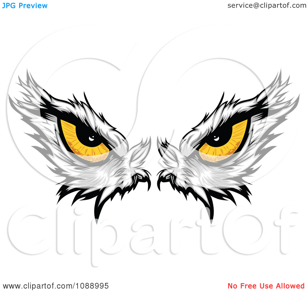Clipart Yellow Bald Eagle Eyes.