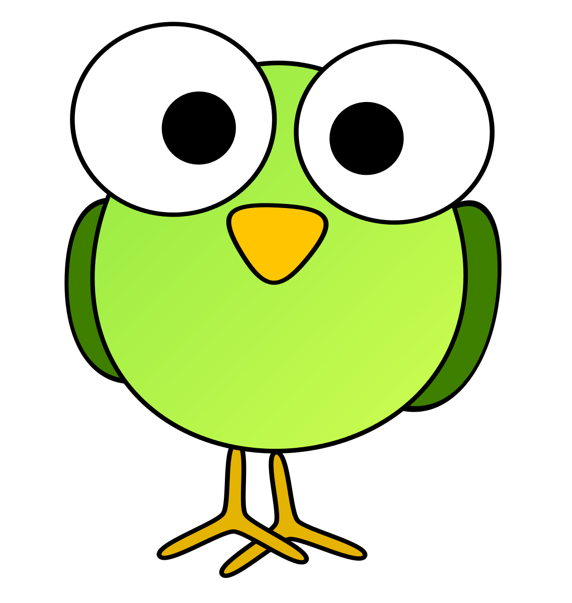 Free green bird clipart.