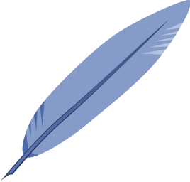 Bird feather clip art.