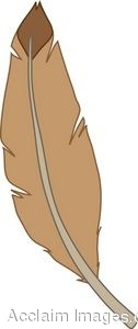 Clip Art Picture of a Brown Feather.