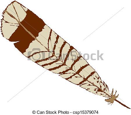 Vectors Illustration of Vector illustration bird feather.