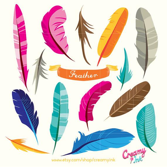 Bird feathers clipart.