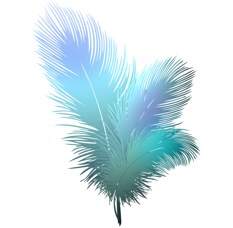 Blue feather clipart png.