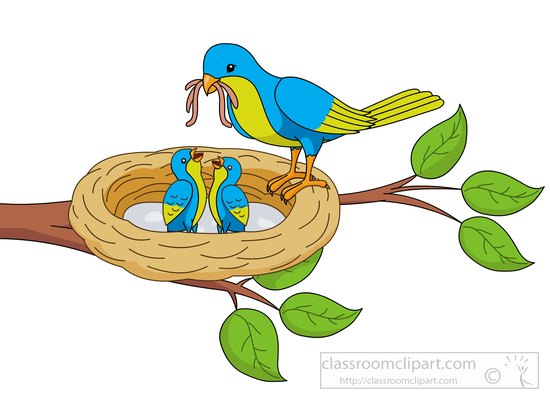 Bird Feeding Clip Art.