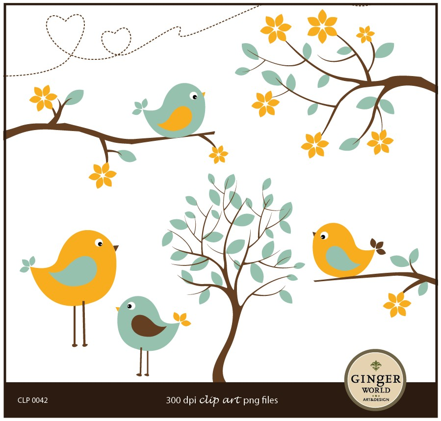 clipart flowers and birds - photo #37